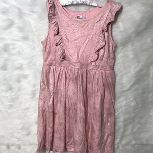Child's Pink Metallic Jersey Dress